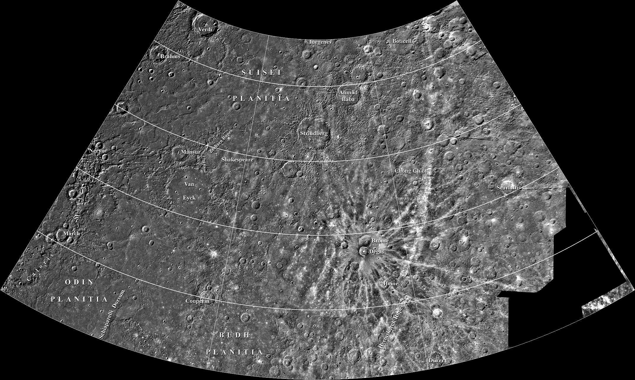 planetary names 15 millionscale maps of mercury - HD 2148×1285