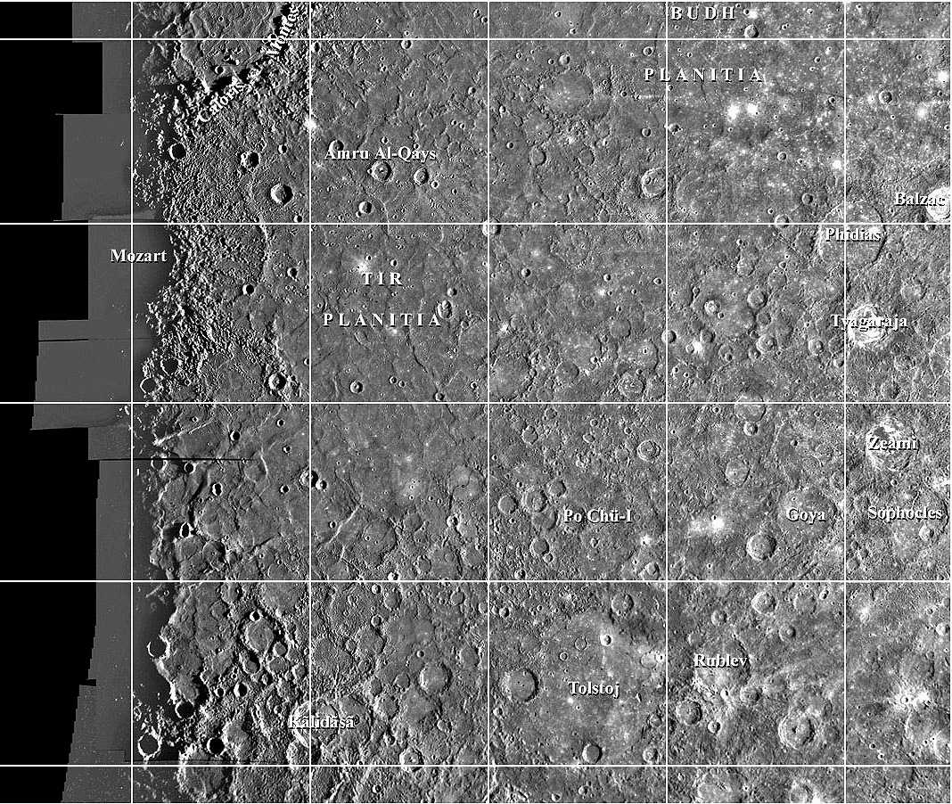 planetary names 15 millionscale maps of mercury - HD 1068×902