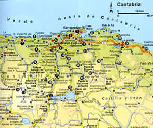 Holiday Map Of Spain.Biking Holiday In Northern Spain 1999